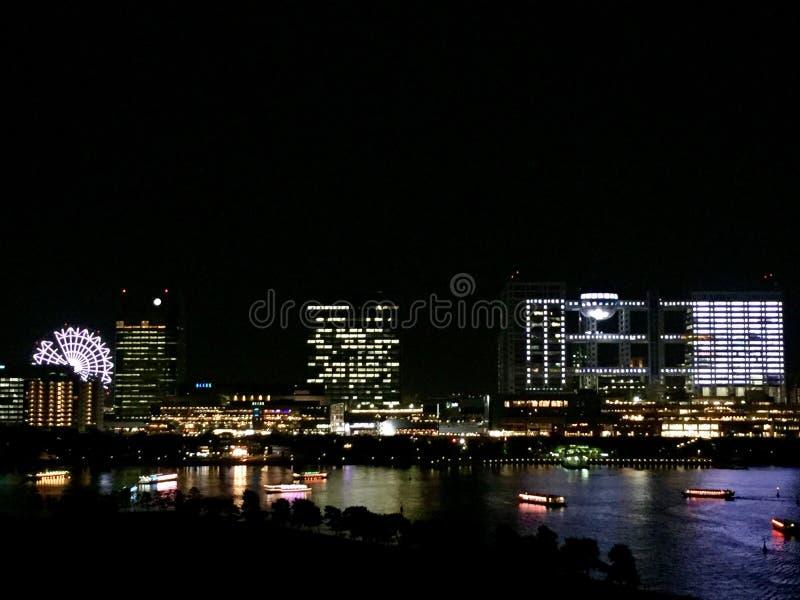 Τοπίο νύχτας νησιών Odaiba στο Τόκιο Ιαπωνία στοκ φωτογραφίες με δικαίωμα ελεύθερης χρήσης