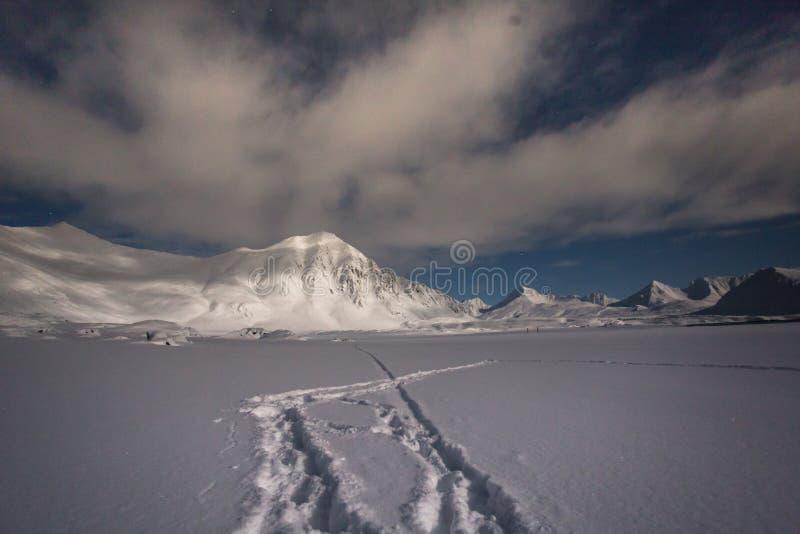 Τοπίο νύχτας της Αρκτικής στοκ φωτογραφίες