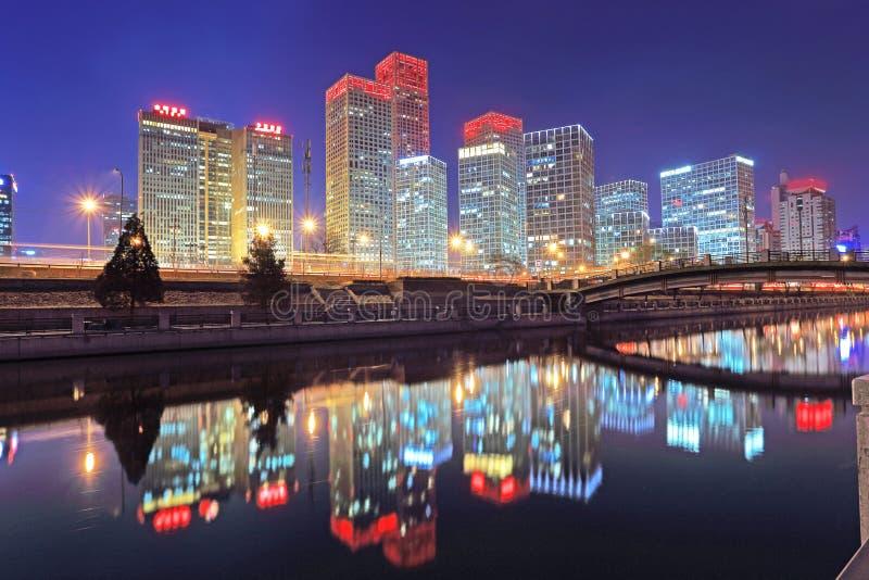 Τοπίο νύχτας του Πεκίνου στοκ εικόνα