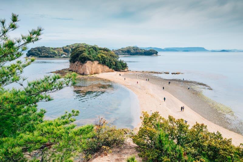 Τοπίο οδικής θάλασσας αγγέλου Shodoshima σε Shikoku, Ιαπωνία στοκ εικόνες