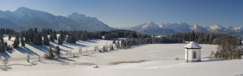 Τοπίο πανοράματος στη Βαυαρία στοκ εικόνες