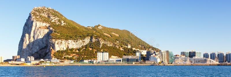 Τοπίο πανοράματος του Γιβραλτάρ η Μεσόγειος βράχου στοκ φωτογραφία