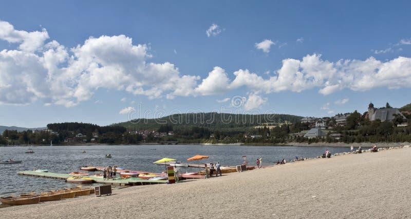 Τοπίο παραλιών Schluchsee στοκ φωτογραφία με δικαίωμα ελεύθερης χρήσης