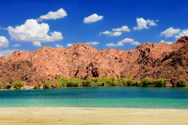Τοπίο παραλιών ερήμων της Νεβάδας στοκ εικόνα