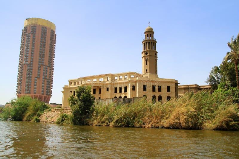 τοπίο ποταμών του Καίρου Αίγυπτος Νείλος στοκ φωτογραφίες με δικαίωμα ελεύθερης χρήσης