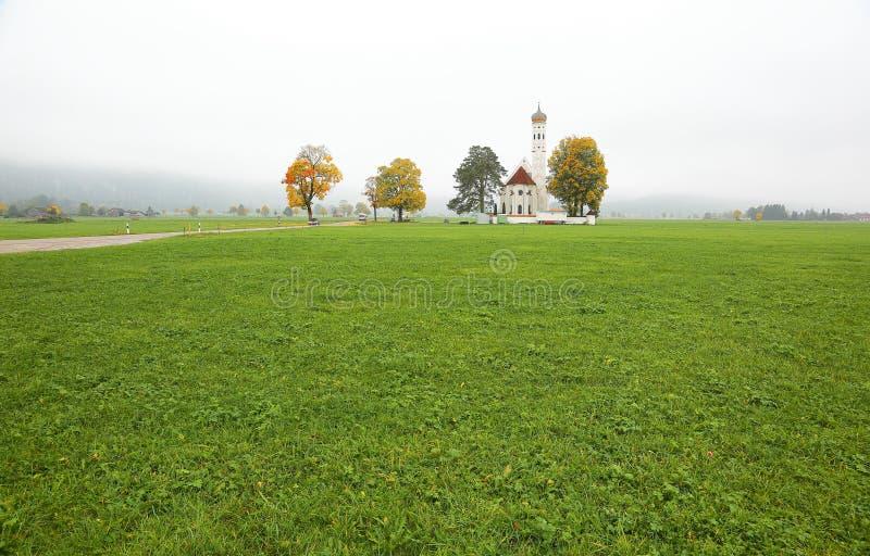 Τοπίο πτώσης της βαυαρικής επαρχίας σε Schwangau, Γερμανία στοκ φωτογραφίες με δικαίωμα ελεύθερης χρήσης