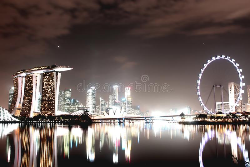 Τοπίο πόλεων της Σιγκαπούρης στοκ εικόνα