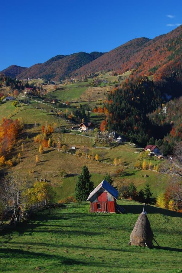 τοπίο Ρουμανία πτώσης στοκ φωτογραφία