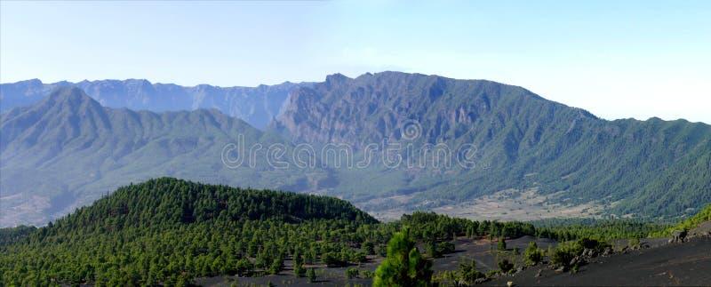 Τοπίο στη δυτική ακτή Lapalma νησιών στοκ εικόνα με δικαίωμα ελεύθερης χρήσης