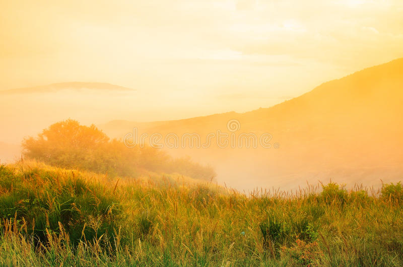Τοπίο στο ηλιοβασίλεμα στοκ εικόνες με δικαίωμα ελεύθερης χρήσης