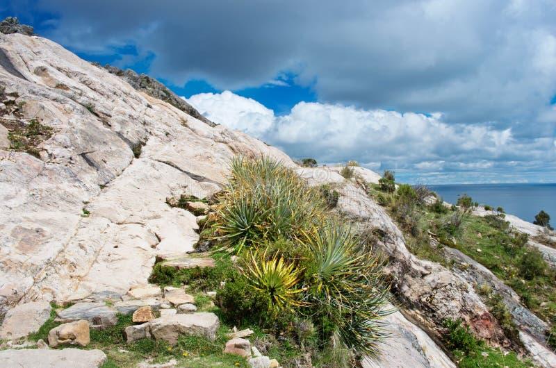 Τοπίο στο νησί του ήλιου στη λίμνη Titicaca boleyn στοκ φωτογραφίες με δικαίωμα ελεύθερης χρήσης