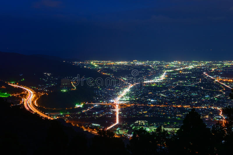 Τοπίο στο λυκόφως στην περιοχή Seisho, Kanagawa, Ιαπωνία στοκ εικόνα με δικαίωμα ελεύθερης χρήσης