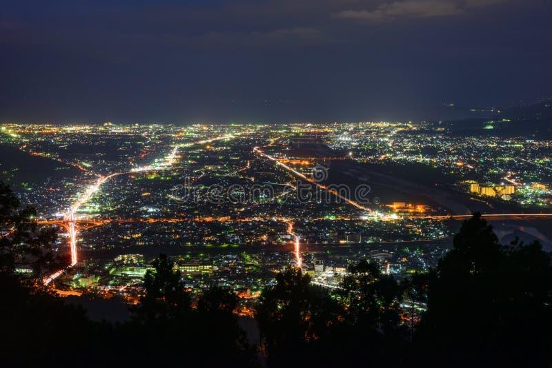 Τοπίο στο λυκόφως στην περιοχή Seisho, Kanagawa, Ιαπωνία στοκ φωτογραφίες με δικαίωμα ελεύθερης χρήσης