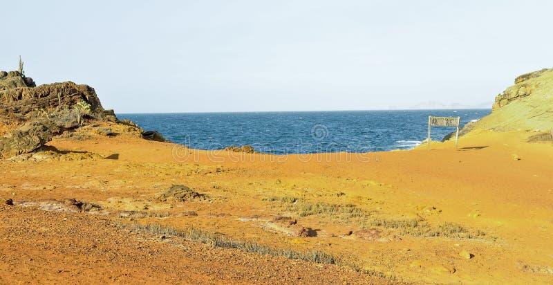τοπίο της ζάλης του νησιού Faro, εθνικό πάρκο Mochima, Βενεζουέλα, Νότια Αμερική στοκ εικόνα