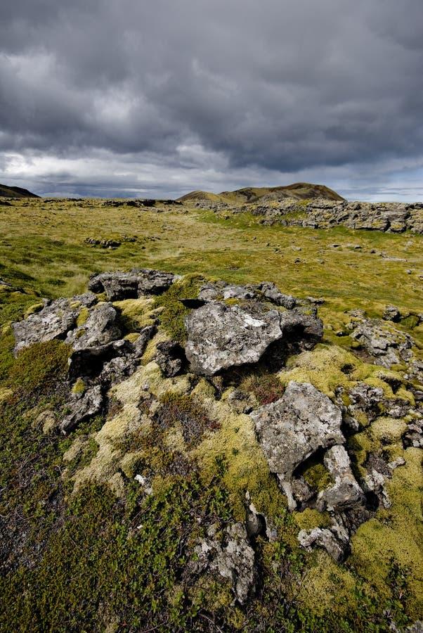 τοπίο της Ισλανδίας ηφαι&si στοκ εικόνα με δικαίωμα ελεύθερης χρήσης