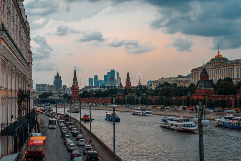 Τοπίο της πόλης της Μόσχας στην κόκκινη πλατεία στοκ φωτογραφία με δικαίωμα ελεύθερης χρήσης