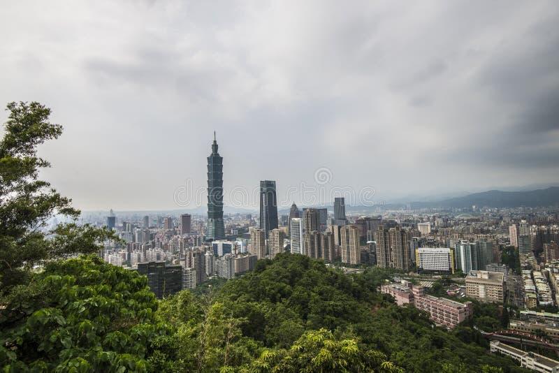 Τοπίο της πόλης Ταϊπέι στοκ φωτογραφίες με δικαίωμα ελεύθερης χρήσης
