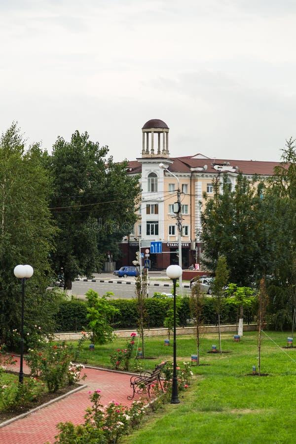 Τοπίο της πόλης του Γκρόζνυ στοκ εικόνα