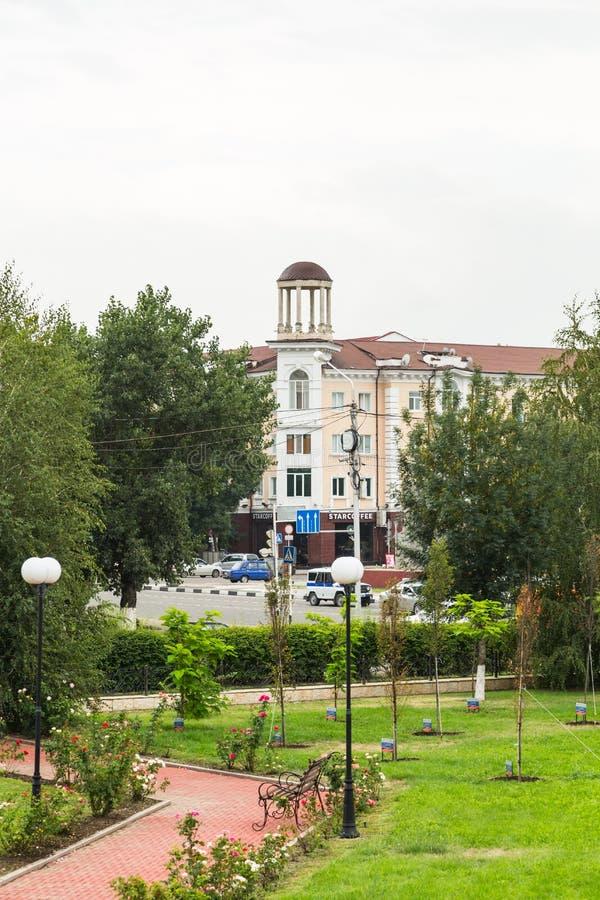 Τοπίο της πόλης του Γκρόζνυ στοκ εικόνες