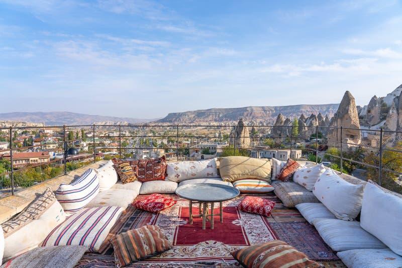 Τοπίο της πόλης Cappadocia στην Τουρκία στοκ εικόνα με δικαίωμα ελεύθερης χρήσης
