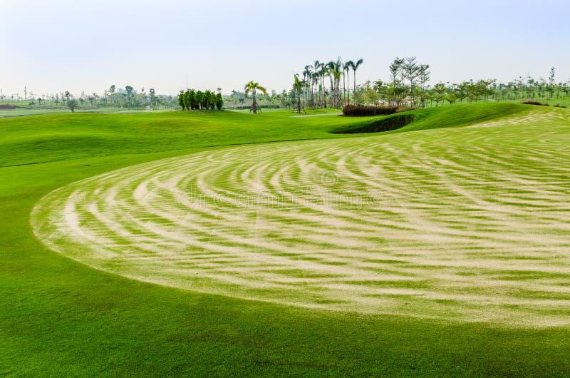 Τοπίο του γηπέδου του γκολφ στοκ φωτογραφία