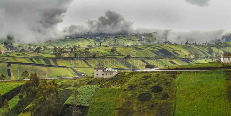 Τοπίο του Ισημερινού στοκ εικόνες