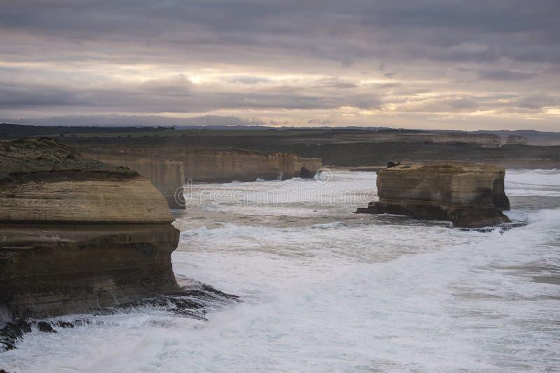 Τοπίο του μεγάλου ωκεάνιου δρόμου σε Βικτώρια Αυστραλία στοκ εικόνα