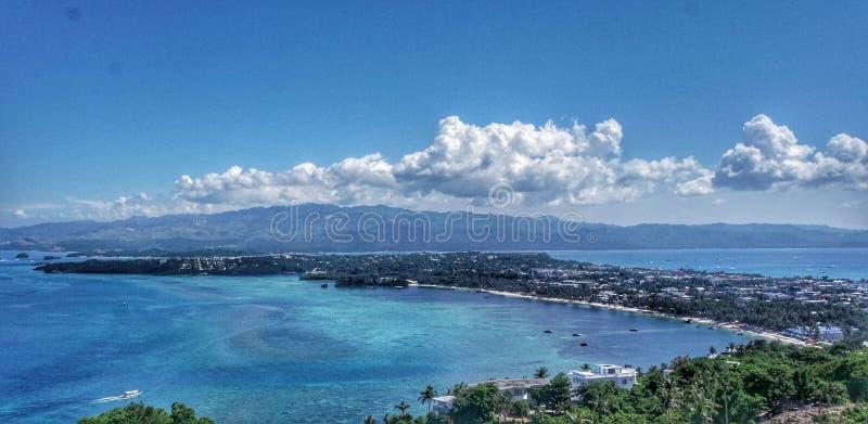 Τοπίο του νησιού Boracay, Φιλιππίνες στοκ εικόνες με δικαίωμα ελεύθερης χρήσης