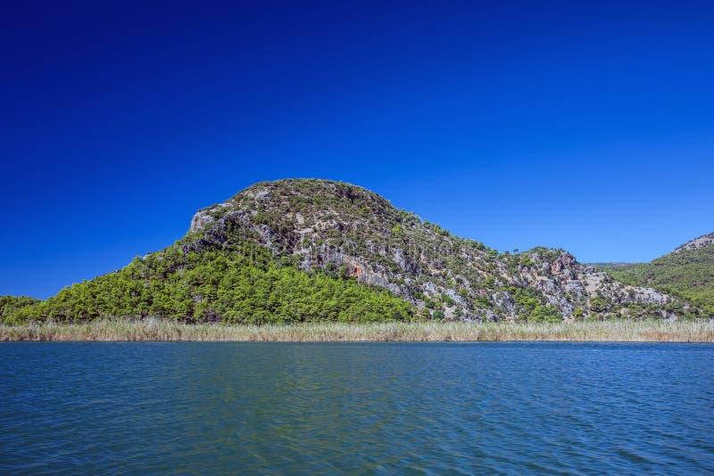 Τοπίο του ποταμού Dalyan στοκ εικόνα