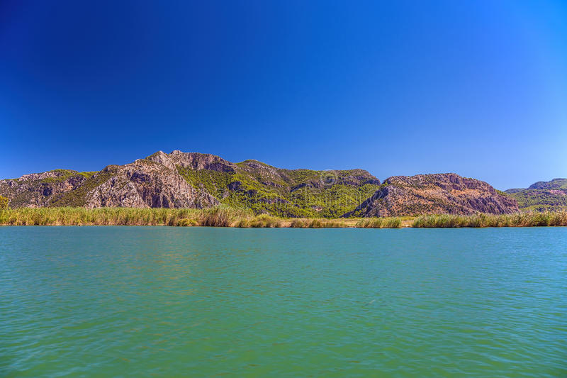 Τοπίο του ποταμού Dalyan στοκ φωτογραφία με δικαίωμα ελεύθερης χρήσης
