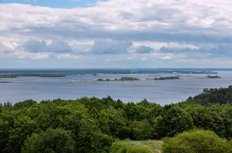 Τοπίο του ποταμού Dnipro Ουκρανία στοκ φωτογραφία με δικαίωμα ελεύθερης χρήσης