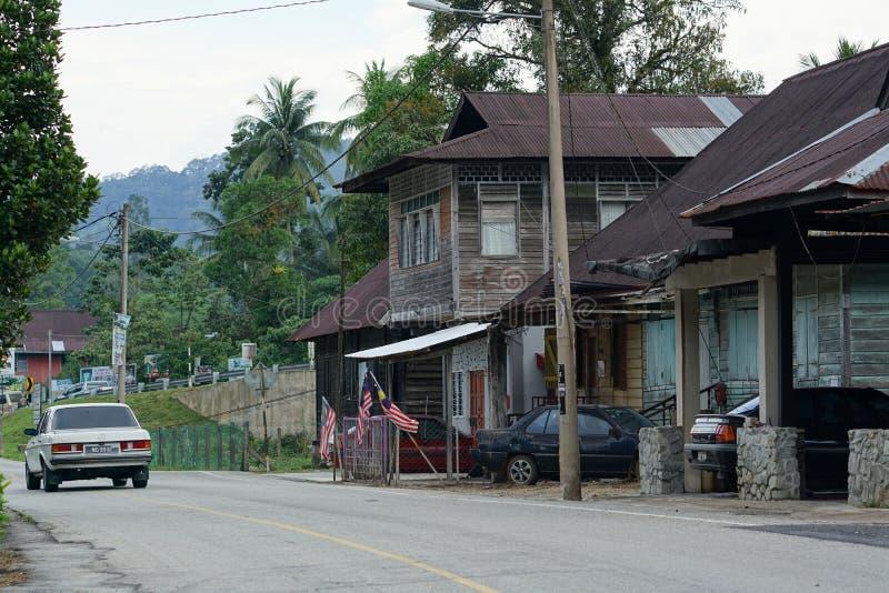 Τοπίο του σπιτιού και του δρόμου σε Sungai Lembing στοκ εικόνες με δικαίωμα ελεύθερης χρήσης