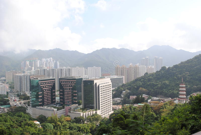 Τοπίο του Χονγκ Κονγκ στοκ φωτογραφία με δικαίωμα ελεύθερης χρήσης