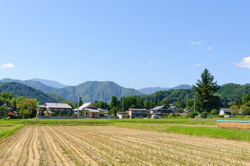 Τοπίο του χωριού Achi στο νότιο Ναγκάνο, Ιαπωνία στοκ εικόνες με δικαίωμα ελεύθερης χρήσης