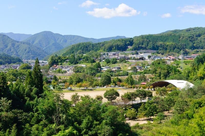 Τοπίο του χωριού Achi στο νότιο Ναγκάνο, Ιαπωνία στοκ φωτογραφία με δικαίωμα ελεύθερης χρήσης