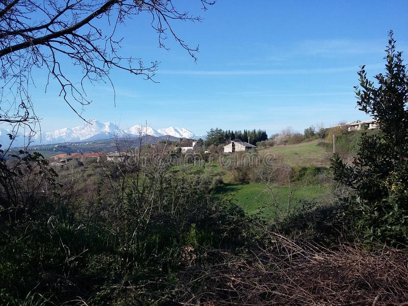 Τοπίο του Abruzzo στοκ φωτογραφία με δικαίωμα ελεύθερης χρήσης