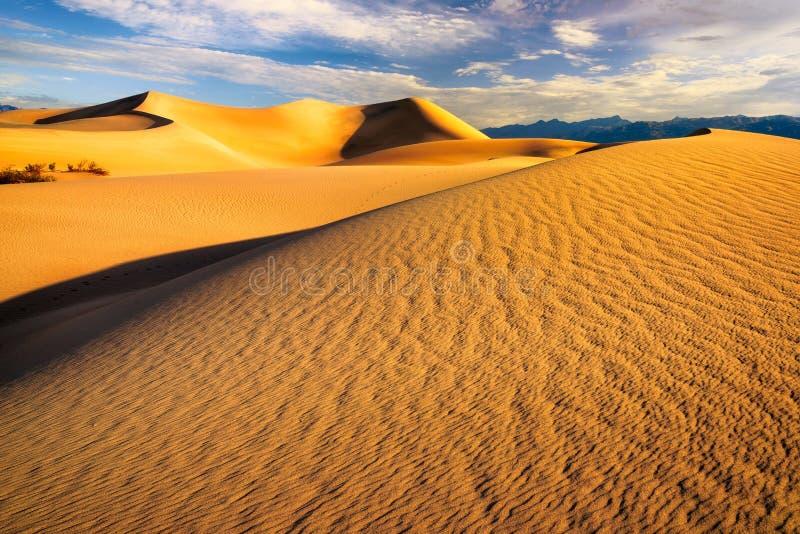 Τοπίο των αμμόλοφων άμμου στην κοιλάδα Καλιφόρνια θανάτου στοκ εικόνες με δικαίωμα ελεύθερης χρήσης