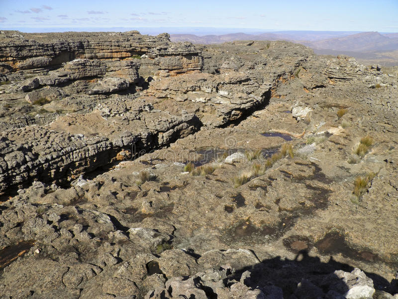Τοπίο των ρωγμών Wolfberg σε Cederberg στοκ εικόνα