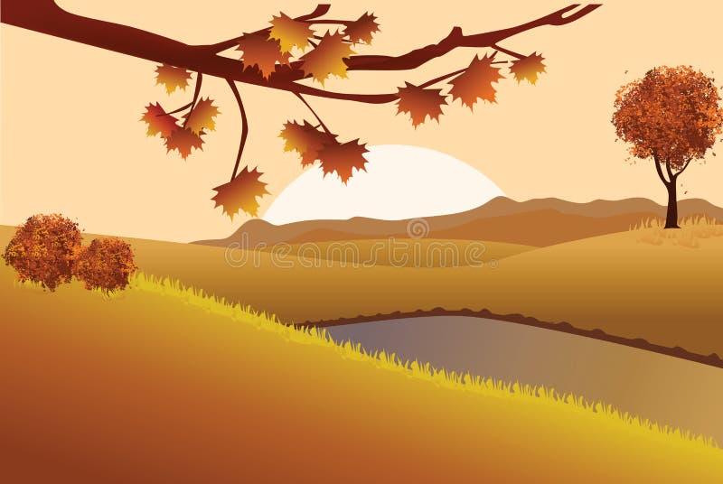 Τοπίο φθινοπώρου απεικόνιση αποθεμάτων