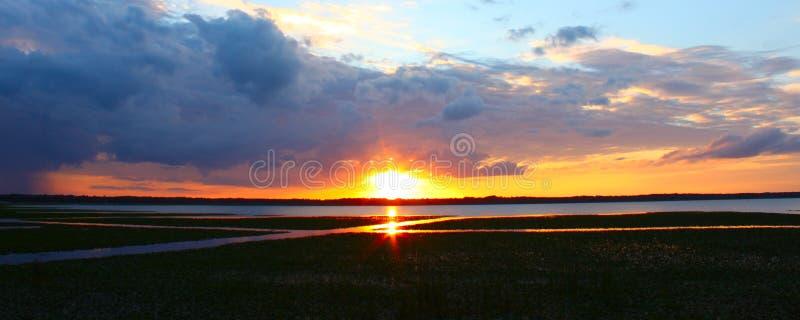 Τοπίο Φλώριδα Arbuckle λιμνών στοκ φωτογραφία