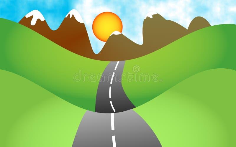 Download τοπίο απεικόνιση αποθεμάτων. εικονογραφία από highway, graphics - 51190