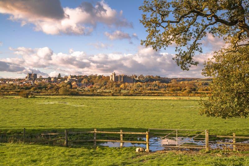 Τοπίο Arundel, δυτικό Σάσσεξ, Αγγλία στοκ φωτογραφίες με δικαίωμα ελεύθερης χρήσης