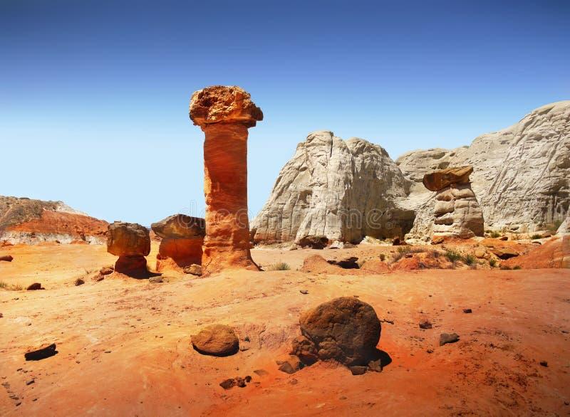 Τοπίο Badlands ερήμων απότομων βράχων Hoodoos στοκ εικόνα με δικαίωμα ελεύθερης χρήσης