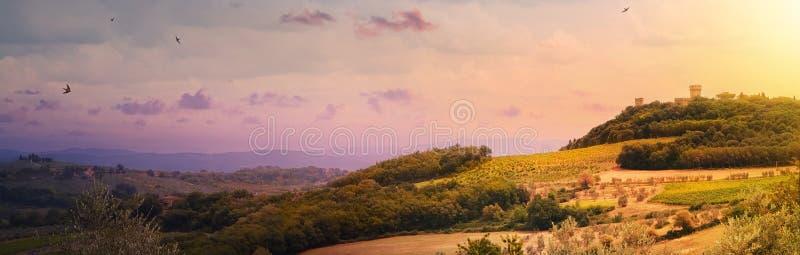 τοπίο chianti περιοχών  Ιταλία  Τοσκάνη  στοκ εικόνα