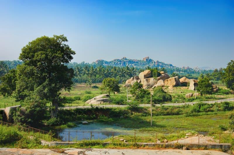 Τοπίο Hampi στην Ινδία στοκ εικόνες με δικαίωμα ελεύθερης χρήσης