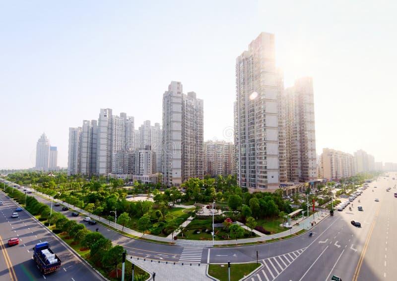 τοπίο Nanchang της Κίνας αστικό στοκ φωτογραφία