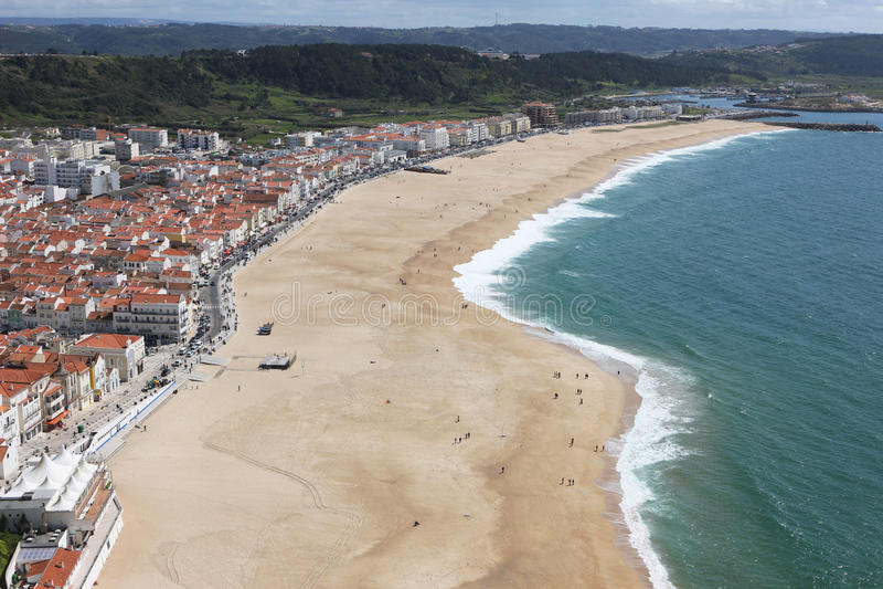 τοπίο nazare Πορτογαλία στοκ εικόνες