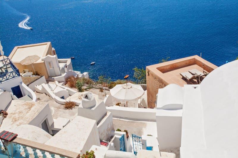 Τοπίο Santorini, τέλειο ορόσημο της Ελλάδας στοκ εικόνες