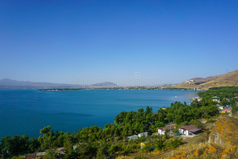 Τοπίο Sevan λιμνών στοκ φωτογραφία