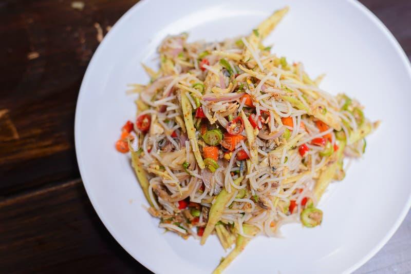 Τοπικά ταϊλανδικά τρόφιμα Vermicelli ρυζιού στοκ φωτογραφίες